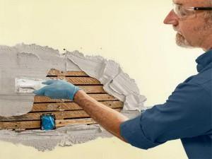 выравнивание деревянных стен смесями