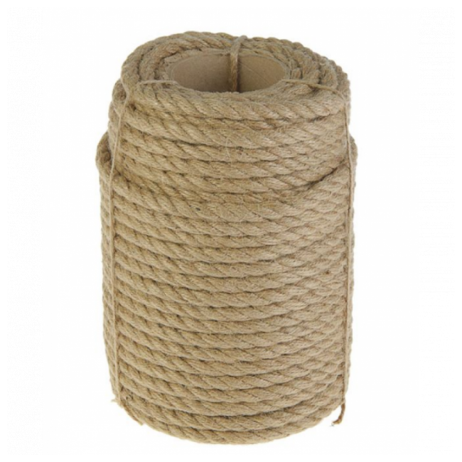 Верёвка джутовая d=14мм    50м
