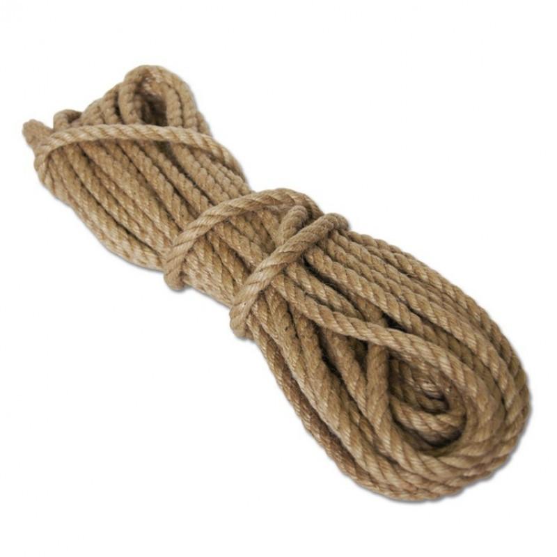 Верёвка джутовая d= 8мм    20м