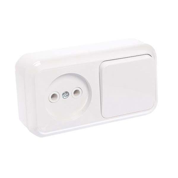 РО Блок Пралеска 1-клавишный выключатель без заземления
