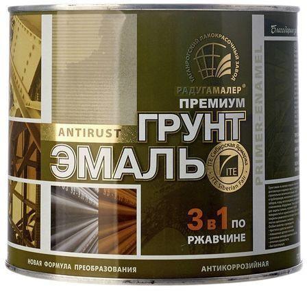 Грунт-эмаль коричневая 1,9л