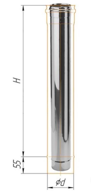 Труба нерж. 1,0мм  d=115  1м